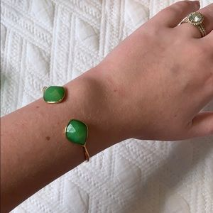 Stella & Dot green jewel bracelet